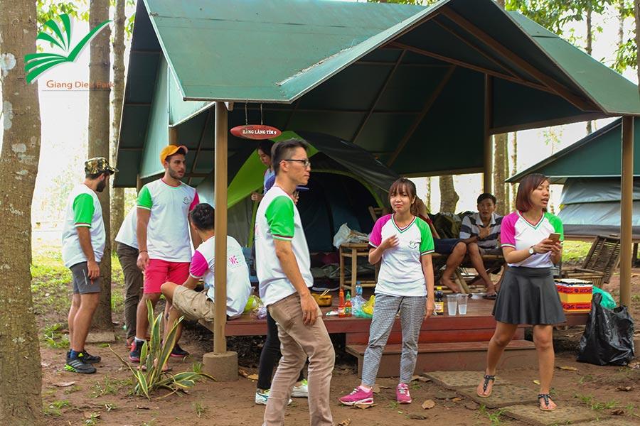 cắm trại thác Giang Điền Đồng Nai