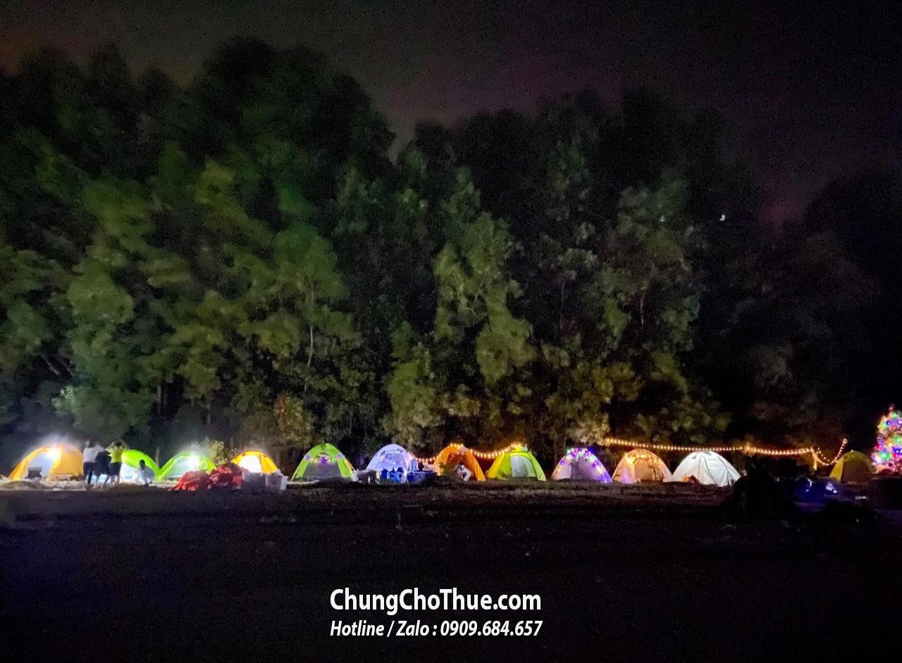 cho thuê lều đi cắm trại hồ trị an